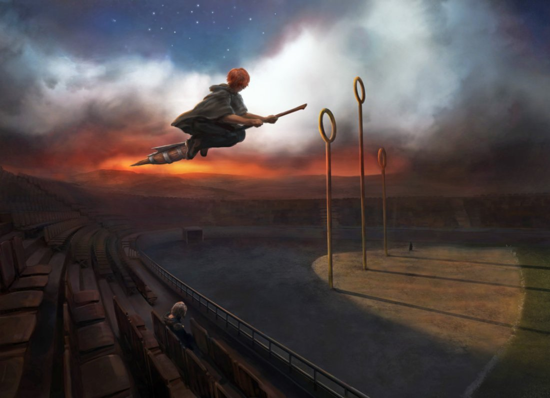 ronweasley_pm_b3c13m1_ronflyingfireboltatquidditchpitchwithharrywatching_moment